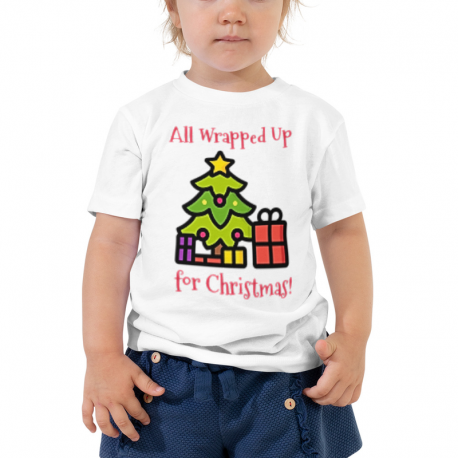 All Wrapped Up Christmas Tree Toddler Short Sleeve Tee