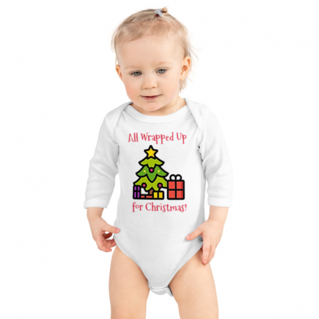 All Wrapped up for Christmas Infant Long Sleeve Bodysuit