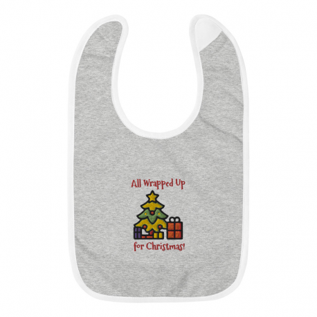 All Wrapped Up Embroidered Baby Bib