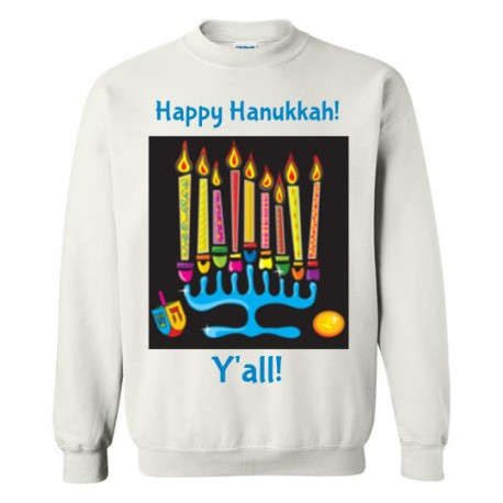 Happy Hanukkah, Southern Style Y'all! Crewneck Sweatshirt