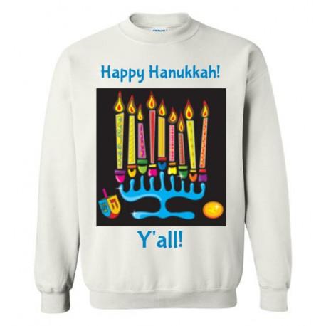 Happy Hanukkah, Southern Style Y'all! Crewneck Sweatshirt