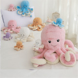 Giant Stuffed Octopus Soft Plush Animal, Sizes 32 inches, 24 inches, 16 inches and 5 Colors, Unique Soft Toy Gift