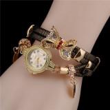 Butterfly Watch Bracelets Quartz Wrist Watch 6 Colors Available Rhinestone Elegant Designer Jewelry Gift