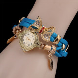 Butterfly Watch Bracelets Quartz Wrist Watch 6 Colors Available Rhinestone Elegant Designer Jewelry Gift