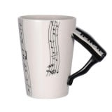 Unique Ceramic Coffee Mug Violin Guitar Saxophone Trumpet and Piano Musical Instruments Novelty Gift