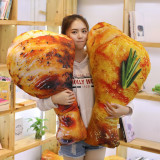 90cm Chicken leg Pillow Simualation large size Plush Toy soft cushion stuffed food doll decor Delicious christmas gift for child