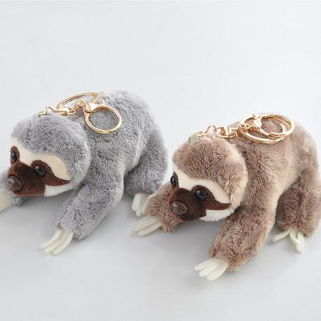 5 inch Cute Sloth Plush Animal Key Chain Stuffed Toy Great Gift
