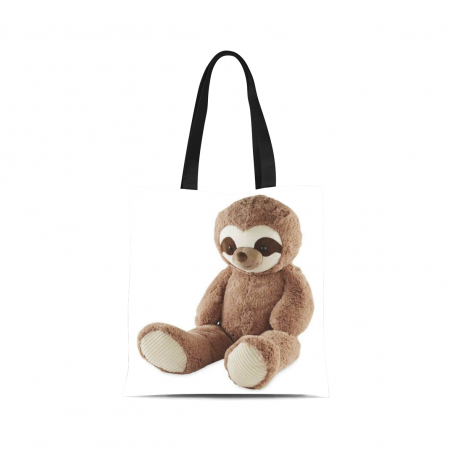 Canvas Tote Bag - White - Sloth Style