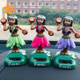 Set of 3 Solar Dashboard Hula Girls